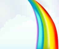 Nubi e Rainbow Fotografia Stock Libera da Diritti