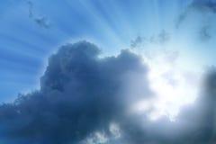 Nubi e sole Fotografia Stock Libera da Diritti
