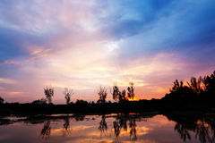 Nubi e tramonto Fotografie Stock