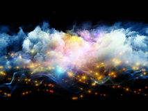 Nubi ed indicatori luminosi astratti Fotografia Stock Libera da Diritti