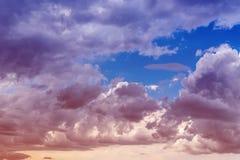 Nubi Il colore ha tonificato l'immagine Fotografie Stock Libere da Diritti