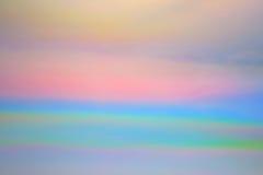 Nubi Iridescent Fotografie Stock