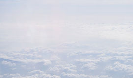 Nubi lanuginose bianche immagine stock