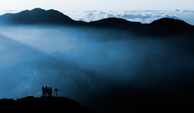 Nubi magiche di mattina Fotografia Stock