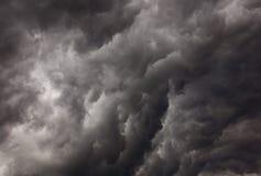 Nubi minacciose Immagine Stock