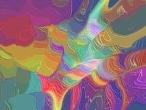 Nubi multicolori Fotografie Stock
