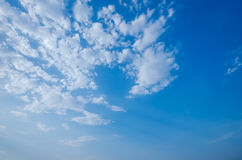 Nubi nel cielo Fotografia Stock