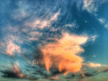 Nubi nel cielo Fotografie Stock