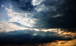 Nubi nel tramonto Fotografie Stock Libere da Diritti