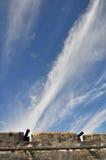 Nubi nella fucilazione skyimitating dei cannoni Fotografia Stock Libera da Diritti