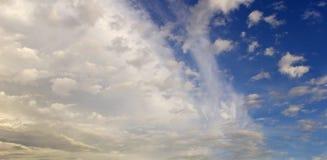 Nubi pittoresche Fotografie Stock Libere da Diritti