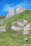 Nubi ricce sopra le montagne Fotografia Stock