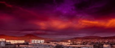 Nubi rosse Fotografia Stock