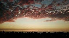 Nubi rosse Fotografia Stock Libera da Diritti