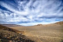 Nubi sopra Death Valley Fotografia Stock Libera da Diritti