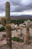 Nubi sopra Humahuaca Fotografia Stock Libera da Diritti