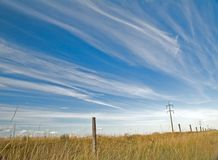 Nubi sopra il campo 6 Immagini Stock