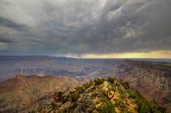 Nubi sopra il grande canyon Fotografia Stock
