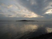 Nubi sopra il mare Fotografie Stock