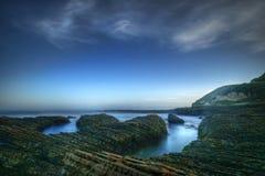 Nubi sopra il Montana De Oro Coast Immagine Stock Libera da Diritti