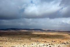 Nubi sopra il Negev Immagine Stock