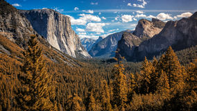 Nubi sopra Yosemite Fotografia Stock