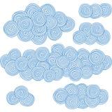Nubi a spirale, elementi di disegno dei cerchi illustrazione di stock