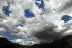 Nubi tempestose pericolose Fotografia Stock