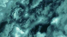 Nubi tempestose scure animazione del volo attraverso le nuvole e di spining royalty illustrazione gratis