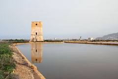 Nubia tower - Trapani. Old watchtower in the province of Trapani - Sicily Stock Image