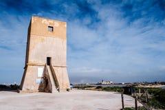 Nubia-Turm in Trapani Stockbilder