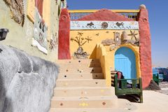 Nubian architecture Royalty Free Stock Photography