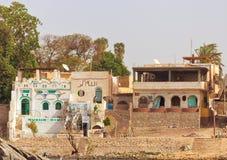 nubian egypt hus Arkivfoton