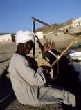 nubian egypt musiker Fotografering för Bildbyråer