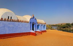 Nubian House. A Nubian House located in the first Cataract near Aswan in Egypt Royalty Free Stock Photos