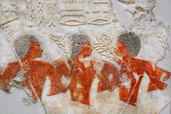Nubian mercenaries of ancient army of Egypt in museum Stock Image