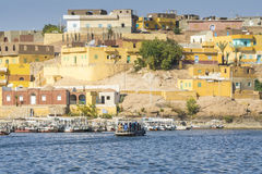 Nubian traditional village, lake Nasser, Egypt Royalty Free Stock Images