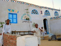 The Nubian Village in Aswan, Egypt Stock Image