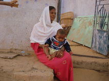 The Nubian Village in Aswan, Egypt Royalty Free Stock Image