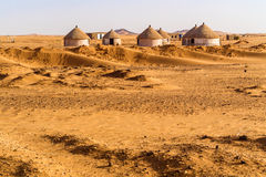 Nubian village in Sudan Stock Photos