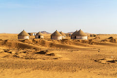 Nubian village in Sudan Royalty Free Stock Photos