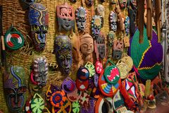 Nubianmaskers Royalty-vrije Stock Afbeelding