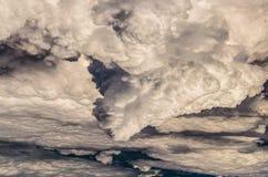 Nubifragio nei cieli sopra l'Arizona Fotografia Stock