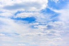 Nubla-se o céu azul Imagem de Stock Royalty Free