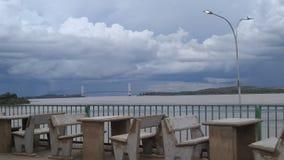 Nublado Puente del Orinoco obraz stock