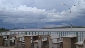 Cloudy Bridge stock image