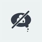 nuble-se o projeto liso do messege do bate-papo, conversando o projeto Imagens de Stock
