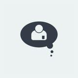 nuble-se o projeto liso do messege do bate-papo, conversando o projeto Foto de Stock
