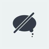 nuble-se o projeto liso do messege do bate-papo, conversando o projeto Fotografia de Stock Royalty Free
