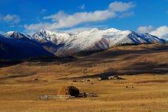 Nuble-se a planície da montanha Foto de Stock Royalty Free